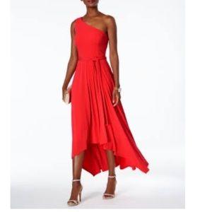 Vince Camuto asymmetrical one shoulder dress